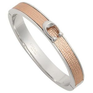 Coach Rose Gold Bangle Bracelet